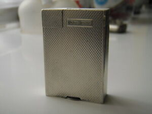 B&C Rollboy lighter, solid silver, rarer small size.