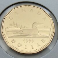 1998 Proof Canada 1 One Dollar Loonie Canadian Uncirculated Coin G526