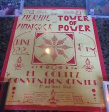 Tower Of Power Herbie Hancock Poster 1970s Original