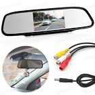 """4.3"""" TFT Car LCD Screen Rear Monitor View Rearview Mirror DVD for Backup Camera"""