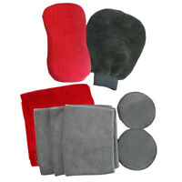 Microfiber Towel Mitt Sponge Pad Car Wash Combo Set - 9 Piece Car Detailing Kit