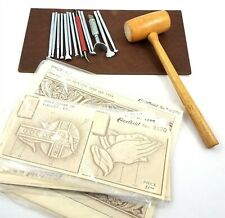 Vintage Leather Craft Tool Craftool Lot Patterns Craftaids Board Mallet