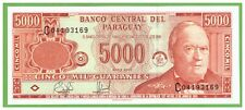 PARAGUAY - 5000 GUARANIES - 2000 - P-220a - UNC - REAL FOTO