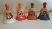 4 Anri Christmas Bells. 1979, 1980, 1981 & 1983