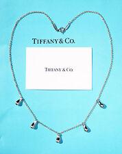 Tiffany & Co Elsa Peretti Sterling Silver 5 Teardrop Necklace