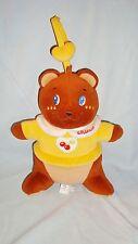 Doudou Hochet Velours Ours Bear Marron & Jaune avec attache Chicco (22x17cm) TBE