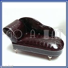 Miniature Soft Ring Jewelry Trinket Box Chaise Longue Sofa Living Room Display