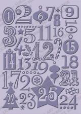 LARGE CUTTLEBUG embossing folder CHRISTMAS COUNTDOWN