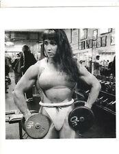 Female Bodybuilder TAZZI COLOMB Bodybuilding Muscle Photo B+W