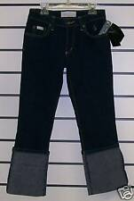 Baby Phat Str8 Leg Stretch Capri Denim Pants Size 1 NWT