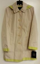 LONDON FOG HOODED A-LINE TRENCH IN TWINE LIME (L72542P) SIZE large