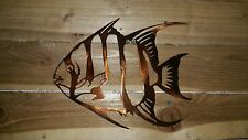 "10"" ANGLE FISH WALL ART. CNC PLASMA Metal DECOR"