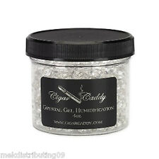 Cigar Caddy 4oz Humidifier Jar for 150 cigars Hydrating Gel Crystal Reusable