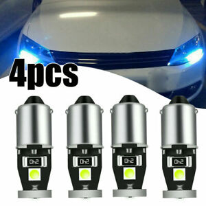 4x BA9S T4W T11 3030 Car License Plate Light Map Light Side lamp CANBUS Ice Blue