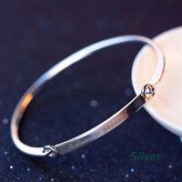 Engraved Inspiration Believe in yourself Rhinestone Bangle Bracelet Jewelry