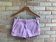 "J.Crew Womens Solid Light Purple Chino 3"" Shorts - size 0 EUC FAST SHIP"