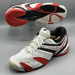 Babolat V-Pro 2 Tennis Shoes All Court Men's US 13 White Michelin Kompressor