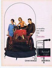 PUBLICITE ADVERTISING 015 1964 CHAVANOZ vêtement pour homme et femme