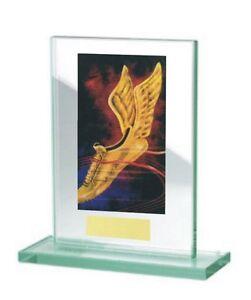 Glas-Pokal mit farbigem Hologramm (WH511-Laufsport) inkl. Gravur nur 17,75 EUR