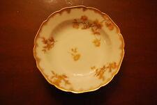 HAVILAND LIMOGES FRANCE SPONGED GOLD FLOWER DECOR PORCELAIN CABINET DISH PLATE 4