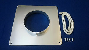 """chimney register plate sealing collar 5"""" heavy duty next day available"""