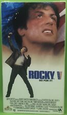 ROCKY V: GO FOR IT VHS 1990 Sylvester Stallone Talia Shire Burt Young Sage Stall
