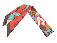 HERMES Graffiti Twilly Scarf ~ Stylish street art for your bag or wrist!
