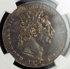 1820, Great Britain, George III. Silver Crown (British Dollar) Coin. NGC AU-58!