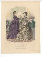 """Ladies Fashion Print - """"La Mode Illustree"""" 1872 No. 48"""