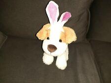 Dan Dee Puppy Dog Plush Wearing Bunny Ears