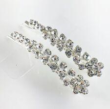 USA Bobby Pin Rhinestone Crystal Hair Clip Hairpin Jeweled Pretty Silver B33