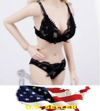 1/6 female Lace Lingerie Sets bra Panties black color for Kumik Phicen ❶USA❶❶