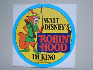 Robin Hood Aufkleber / 'Sticker * 9,5 cm * Walt Disney