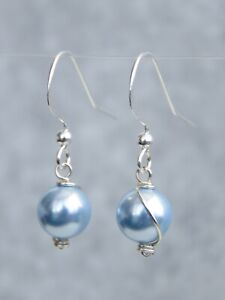 Gold / Silver / Rose Gold Plated Earrings With Swarovski 8mm Colour Pearl