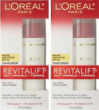 L'Oreal Paris Revitalift Anti Wrinkle NEW Firming SPF 30 Day Lotion 2 Pack