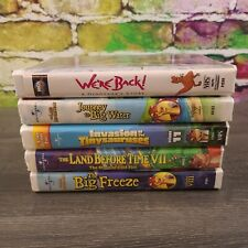 Lot of 5 VHS Land Before Time Videos Movies Cartoons: The Big Freeze, We're Back