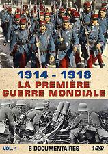 DVD 1914 - 1918 : La Première Guerre Mondiale - 5 Documentaires - Vol 1 / 4 DVD