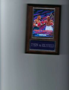MIKE TYSON VS EVANDER HOLYFIELD PLAQUE BOXING CHAMPION