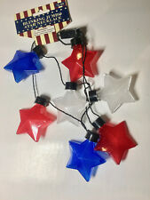 LOT OF 5 BLINKING JUMBO STAR NECKLACE NEW WITH TAG