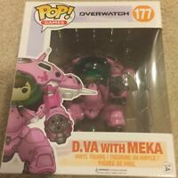 Funko Pop Game Overwatch D.VA with MEKA Action Vinyl Figure Toy #177