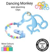 Baby Teething Toy Dancing Monkey Teether Top Quality MATCHING CLIP AVAILABLE