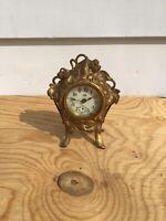 Vintage Early 1900s Jennings Bros. Metal & Porcelain Clock