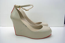 MELISSA Patchuli Nude Red Wedge Peep Toe Size 6 39