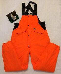 Woolrich Outdoor Hunting Bibs Overalls Waterproof Breathable Mens XL NEON ORANGE