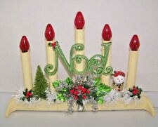 Vintage Christmas 5-light Candolier Decorated