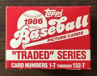 1986 TOPPS TRADED Baseball Factory UNOPENED Set out of case BONDS RC G7020625