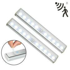 Motion Sensor Activated 10 LED Wireless Light Bar Wardrobe Cabinet Toilet