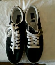 Polo Ralph Lauren men's sneakers Benon canvas black white gray size 11 D