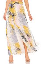 Diane von Furstenberg Jade Silk-Chiffon Maxi Skirt Size Large