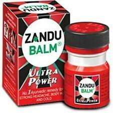 Zandu Balm Ultra Power 8 ml Strong Headache Backache Knee Joint Pain Cold 4 PCS